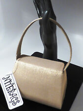 Nite Bags Gold Satin Fabric Evening Purse for Prom Wedding Formal