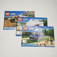 Lot of 3 Lego City Manuals Instruction Booklets Book Only 60117 60146