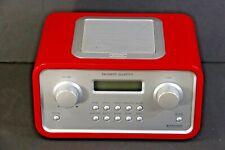 TANGENT QUATTRO MKII Radio, RECIVA WiFi / LAN Internet, AM / FM Red, Denmark EUC