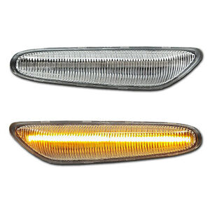 WEISSE LED Seitenblinker BMW 1 E81/82/87/88  3 E90/91/92/93 X1 E84 Alpina B3