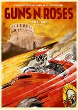 "Reproduction Guns N Roses Poster, ""Imola, Italy"", Home Wall Art"