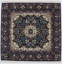 Black Fine Square Hand-Knotted Kirman 5X5 Oriental Home Décor Area Rug Carpet