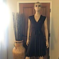 Diane von Furstenberg DVF Brown Rayon Classic Wrap Dress - Sz 4