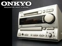 ONKYO FR-V5 CD MD tuner amplifier Japan F/S used