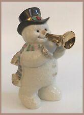 Lenox Snowman With Horn Figurine - 4.75� Tall - Christmas