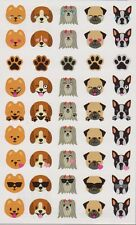 Mrs. Grossman's Giant Stickers - Dog Emotions - Puppy Emoticons - 2 Strips