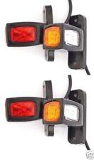 LED Position Marker Lichter 4x12/24V E-Prüfzeichen Seite Heck Lampe Lkw Trailer