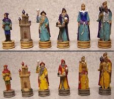 "Chess Set Pieces Fantasy Sorcerers Wizards NEW 3 1/4"" Kings"