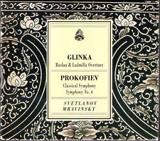 Evgeny MRAVINSKY & SVETLANOV: PROKOFIEV Symphony 1 6 GLINKA Russlan ALBERT HALL