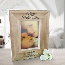 Personalised Wooden Photo Frame Mothers Day Gift Custom Present Grandma Nan