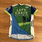 Voler Cycling Jersey Women's Medium 3/4 Zip Left Coast Cyclery Shiner Bock Logos