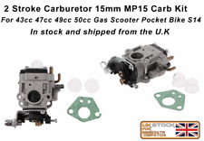 2 Stroke Carburetor carb 15mm MP15 Carb Kit For 43cc 47cc 49cc 50cc dirt bike