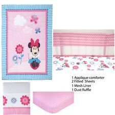 Disney Minnie Mouse Happy Day 5 Piece Baby Crib Bedding Bundle - Discontinued