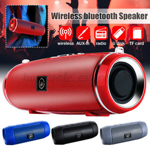 Portable Wireless 4.2 bluetooth Speaker Stereo Support TF Card USB Chargi
