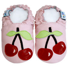 Freeship Littleoneshoes Soft Sole Leather Baby Infant CherryPink Shoes 18-24M