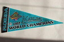 "Florida Marlins 1997 World Series Champions Teal Felt Pennant MLB 8.75"" Long"