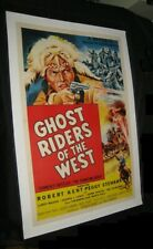 Original PHANTOM RIDER GHOST RIDERS OF THE WEST Linen Backed O/S ROBERT KENT