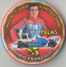 LAS VEGAS PALMS DARIO FRANCHITTI 2005 ANDRETTTI GREEN    $5 CASINO  CHIP