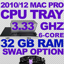 2010 2012 32GB + 6-Core 3.33 Ghz Mac Pro Upgrade CPU Tray 5,1 with Return Option