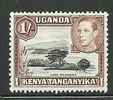 Album Treasures Kenya, Uganda, Tang. Scott # 80a 1sh George VI Lake Naivash MLH