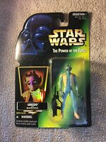 Star Wars Greedo Bounty Hunter Action Figure POTF MOC Power of the Force Kenner