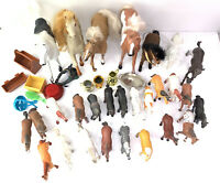 Vtg Lot Of 17 Funrise International Vinyl Horse Figures 1988 & Larger Horses
