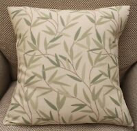 LAURA ASHLEY WILLOW LEAF HEDGEROW, GREEN & CREAM CUSHION COVER VARIOUS SIZES