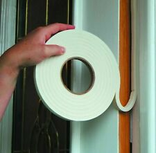 4.5m Draught Excluder Foam Insulation Strip Tape Seal Door Windows Weather Draft