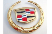 Cadillac CTS 03 04 05 06 07 Grille WREATH & CREST Emblem!! 24K PLATED GOLD!!