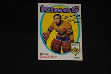 DENIS DeJORDY 1971-72 TOPPS SIGNED AUTOGRAPHED CARD #63 KINGS