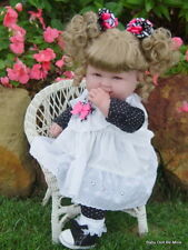 """New 18 """" Berenguer Baby Doll ~ makeover ~ in Black and White Dots ~ Extras"""