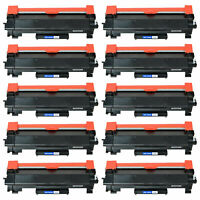 10-Pk/Pack TN760 TN730 Toner Cartidge For Brother HL-L2350DW HL-L2370DW L2550DW