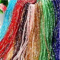 Wholesale 120 Pcs 4mm swarovski crystal Glass Bicone Beads U Pick Colors Fashion