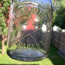 """Lakeview Dairy 1/2 Pint Emb. """"Star"""" Ithaca Ny Emb. On Rim A Bottle Of Milk Is."""