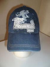 Calvin Klein NY 68 Blue Distressed Strapback Dad Hat