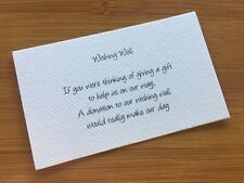 50 x WHITE Wishing Well Cards - Printed And Cut - Wedding Invitations - Invites