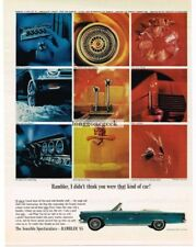1965 RAMBLER Ambassador 990 Blue Convertible shows options Vtg Print Ad