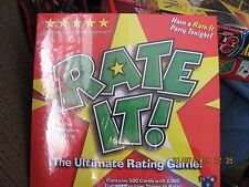 NEW Rate It! The Ultimate Rating Game BOARD GAME! Chillin' Games NIP