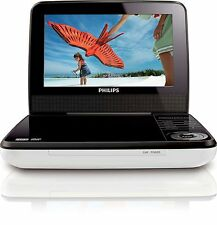 """Philips PET741W/17 White/Black Widescreen 7"""" LCD Car Portable DVD Player Stereo"""