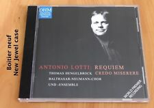 Antonio Lotti - Requiem - Credo - Miserere - Hengelbrock - Boitier neuf - CD DHM