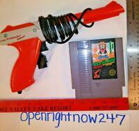 NINTENDO NES ZAPPER LIGHT GUN & WILD GUNMAN GAME CARTRIDGE 1985 BUNDLE LOT