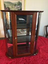 Bombay Company Curved Glass Curio Cabinet