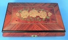 """ITALY MARQUETRY (WOOD INLAY) MUSIC BOX """"WALTZ OF THE FLOWERS"""""""