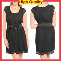 Women Plus Size Dress Sexy Casual Party Black Floral with Belt 20 22 24 26