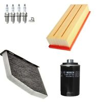 Service Kit For VW Audi Seat Skoda TFSI Bosch Air Oil Pollen Filter Spark Plugs