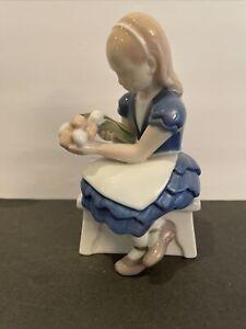 Bing Grondahl B&G Denmark Ida's Flower Girl with Tulips Porcelain Figurine #2298