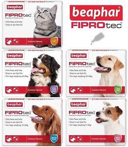 BEAPHAR FIPROtec® CAT & DOG FLEA SPOT ON VET STRENGTH 1, 3, 6 TREATMENT SOLUTION