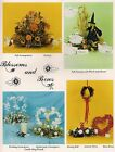 Wedding, Valentines, Fall  Halloween Patterns - Craft Book: Blossoms and Bows
