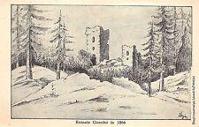 ruinele ciceului in 1866 postcard bistrita nasaud romania