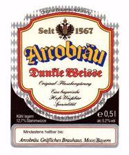 Germany - Beer Label - Arcobrau, Moos - Dunkle Weisse